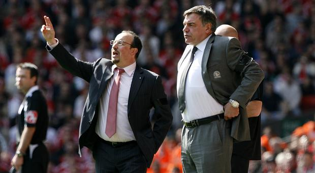 Rafael Benitez, left, and Sam Allardyce will clash again on Sunday