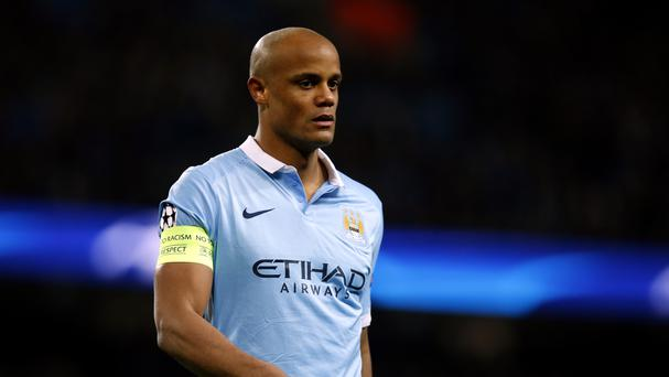 Vincent Kompany limped off against Dynamo Kiev