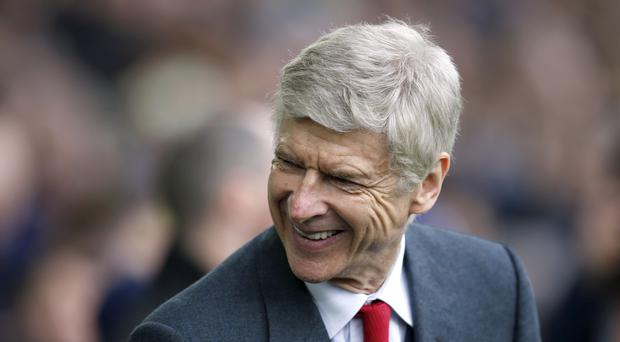 Arsene Wenger was in a relaxed mood at Goodison Park