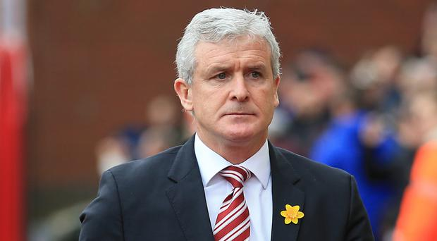 Stoke boss Mark Hughes is eyeing a place in the Europa League
