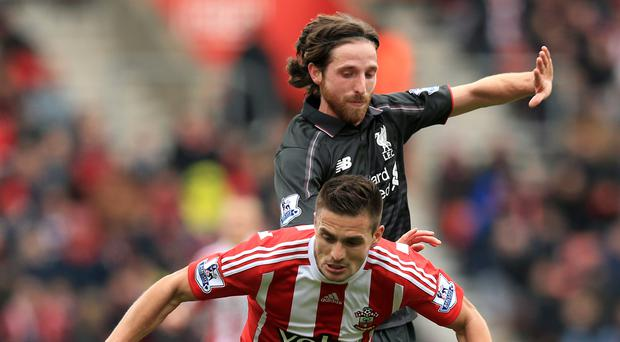Joe Allen's Liverpool came up short on Sunday