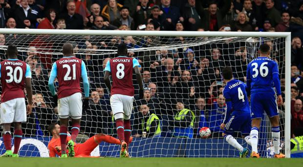 Chelsea's Cesc Fabregas denied West Ham a win with a late penalty at the weekend