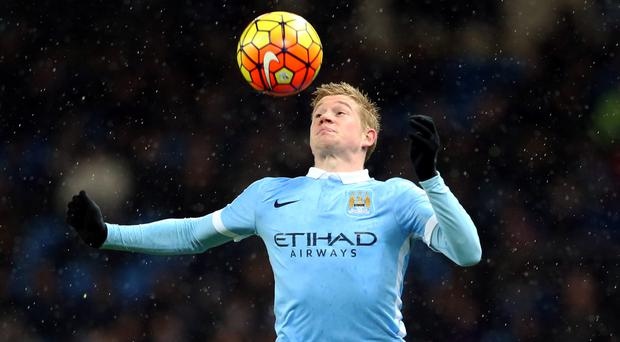 Manchester City's Kevin De Bruyne is close to returning from injury