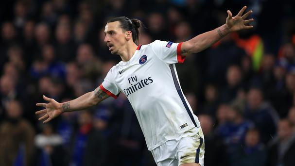 Paris St Germain's Zlatan Ibrahimovic