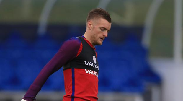 Leicester striker Jamie Vardy is focusing on England's two upcoming friendlies