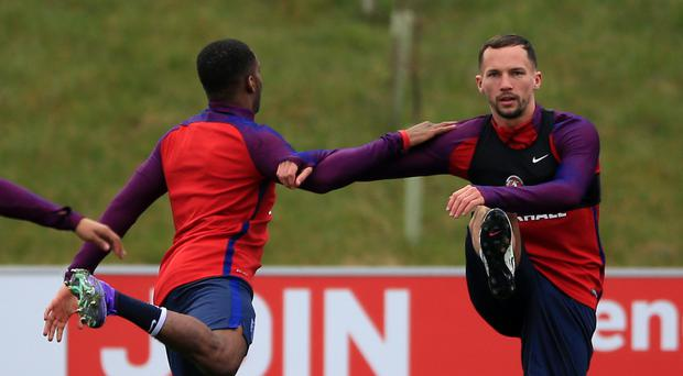 Leicester's Danny Drinkwater, right, has been called into the senior England squad for the first time