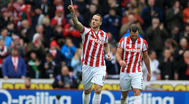 Marko Arnautovic has enjoyed himself for Stoke