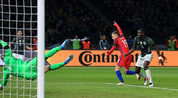The chances of the Jamie Vardy story going to Hollywood only increased with Saturday's stunning goal in England's 3-2 win over Germany in Berlin.
