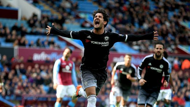 Alexandre Pato's first Chelsea goal helped the Blues rout rudderless Aston Villa