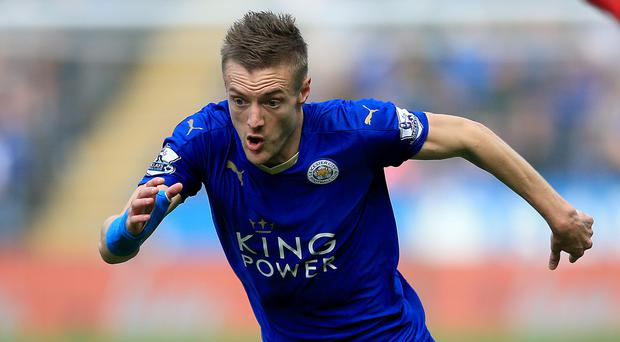 Jamie Vardy has scored just four times for Leicester since December