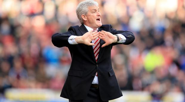 Mark Hughes' Stoke are pushing for a European place this season
