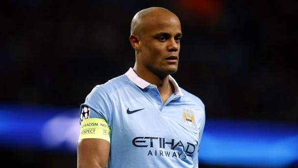 Man City captain Vincent Kompany has been out for a month