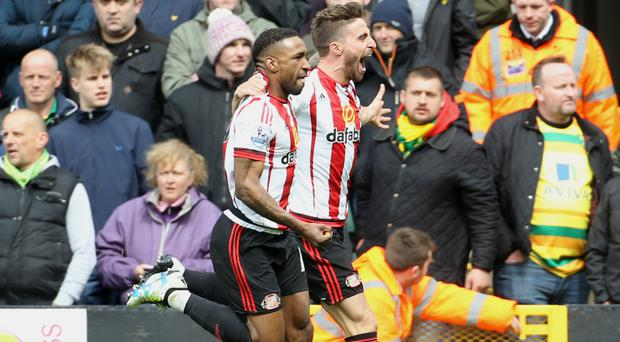 Jermain Defoe, left, and Fabio Borini were on target for Sunderland