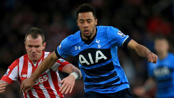 Mousa Dembele, right, impressed as Tottenham trounced Stoke