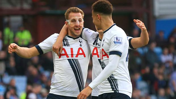 Harry Kane, left, and Dele Alli have scored 34 league goals between them this term