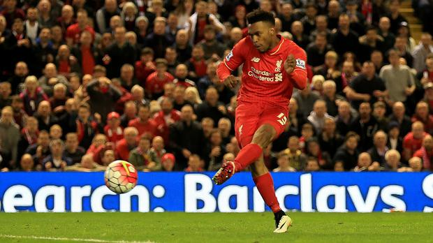 Daniel Sturridge scored his 50th goal for the club in the 4-0 win over Everton
