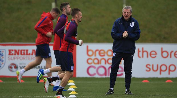 Roy Hodgson can understand England striker Jamie Vardy's anger at being sent off