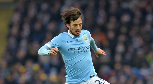 Manchester City's David Silva is fit again after an ankle injury