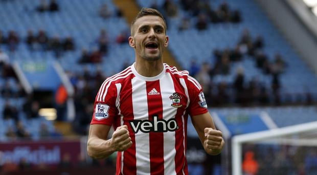 Southampton's Dusan Tadic celebrates putting the visitors 3-1 up in their 4-2 win at Aston Villa.
