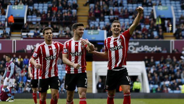 Southampton's Dusan Tadic, right, netted a brace in the 4-2 win at Aston Villa