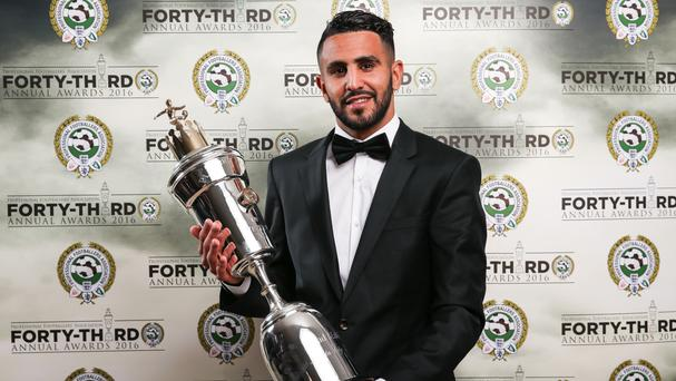 Riyad Mahrez dedicated his award to his Leicester team-mates