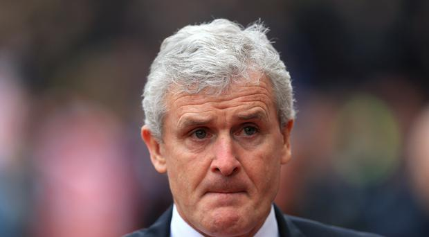 Stoke City manager Mark Hughes is reportedly wanted by Everton