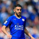 Leicester's PFA Player of the Year Riyad Mahrez will be looking to help the club seal the Premier League title on Sunday.