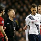 Tottenham midfielder Dele Alli, second from right, has been handed a three-match ban