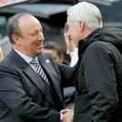 Rafael Benitez, left, got the better of Alan Pardew on Saturday