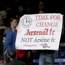 A minority of Arsenal fans protested during the Gunners' game against Norwich