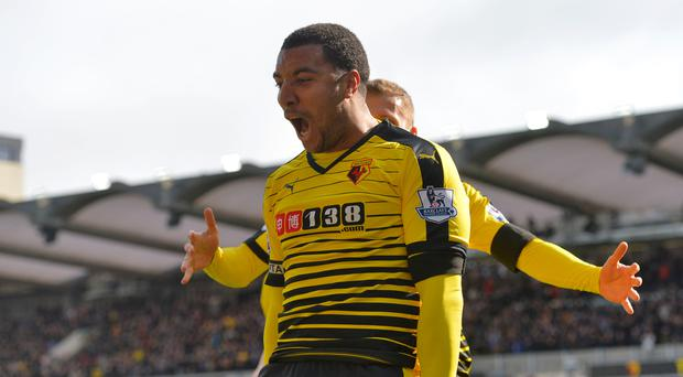 Watford's Troy Deeney enjoyed his two goals against Aston Villa