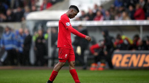 Daniel Sturridge headed off without acknowledging the Liverpool fans after the 3-1 defeat at Swansea