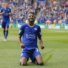 Riyad Mahrez celebrates scoring in Leicester's 4-2 opening-day win over Sunderland as they set the tone for the season