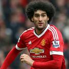 Marouane Fellaini, pictured, and Robert Huth have been charged with violent conduct