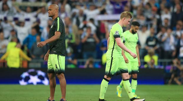 Manchester City went out of the Champions League in the semi-final against Real Madrid