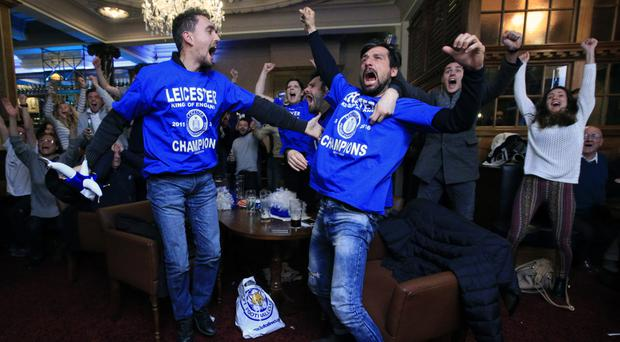Leicester fans have been celebrating all week after their team won the title on Monday