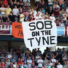 Newcastle were relegated at Villa Park in 2009