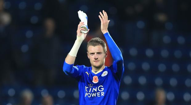 Jamie Vardy has scored 22 goals for Leicester this season to help the Foxes win the Barclays Premier League