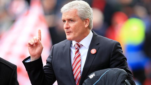 Stoke City manager Mark Hughes, pictured, admits Peter Crouch has not had as much game-time this season as he would have liked