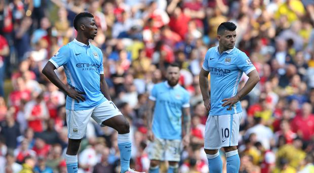 Manchester City's Champions League hopes were hit when they were held to a 2-2 draw by Arsenal on Sunday