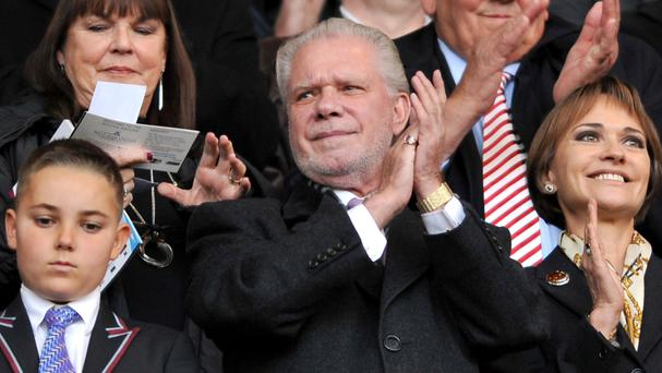 David Gold will be in the stands at Upton Park for the final time on Tuesday night