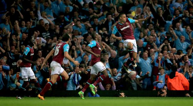 Winston Reid, right, scored the winner for West Ham