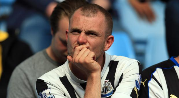 Newcastle fans will be watching their side in the Championship next season