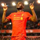 Liverpool goalscorer Christian Benteke. Photo: PA