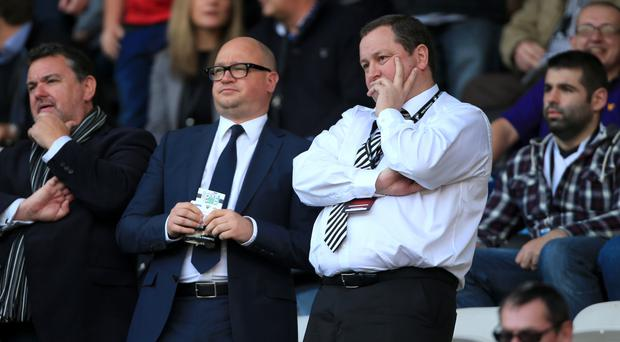 Newcastle managing director Lee Charnley, left, has held initial talks with manager Rafael Benitez over his future