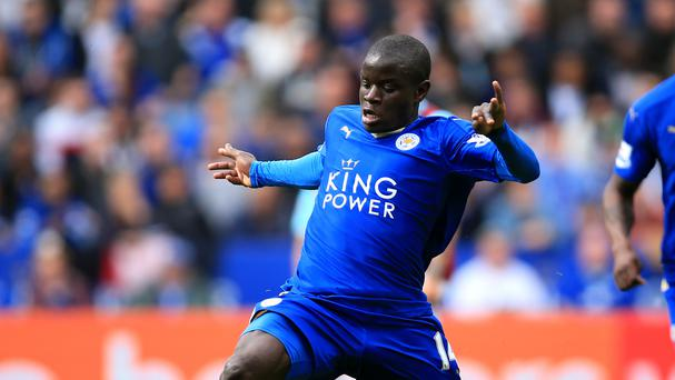 Leicester's Ngolo Kante has been linked with moves to Arsenal and PSG