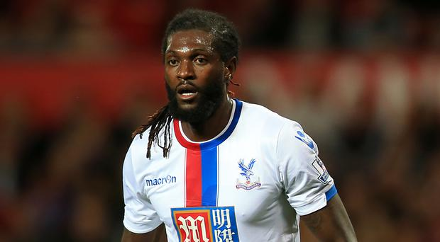 Emmanuel Adebayor's Crystal Palace future remains in the balance