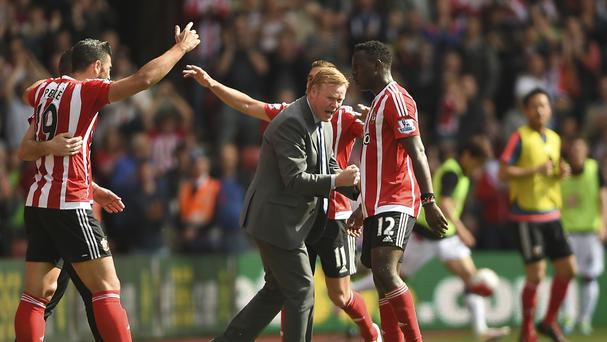 Graziano Pelle, pictured left, was among the goalscorers as Southampton beat Crystal Palace