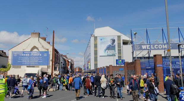 Everton are looking to relocate from their Goodison Park home