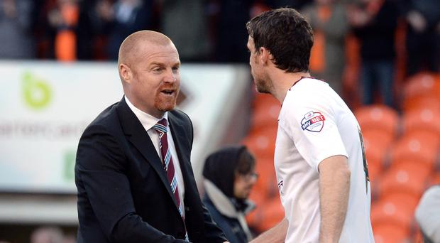 Michael Duff, right, has accepted a position on Sean Dyche's staff